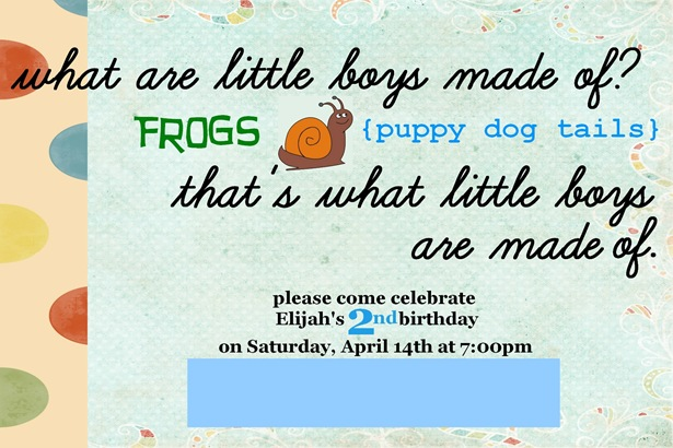 Elijah 2nd birthday invite blurred