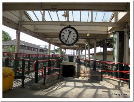 """Carnforth's famous """"Brief Encounter""""  film clock."""