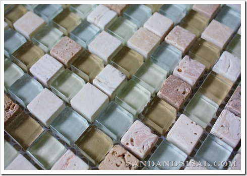 Seabreeze Glass & Stone Mosaic Tile from Lowes