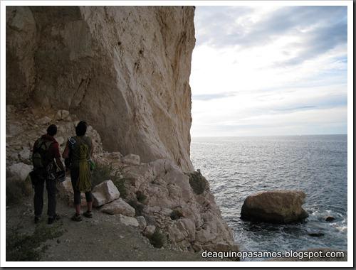 Via Costa Blanca 250m 6c  (6b A0 Oblig) (Peon de Ifach, Alicante) (Fran) 4752