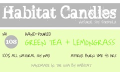 green tea and lemongrass label