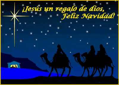 Jesus es el regalo de Dios, feliz navidad