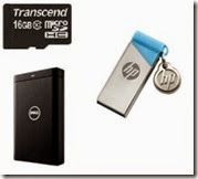 Buy Memory Card, Pen Drives and Hard Disk at 20% off, extra 25% Off