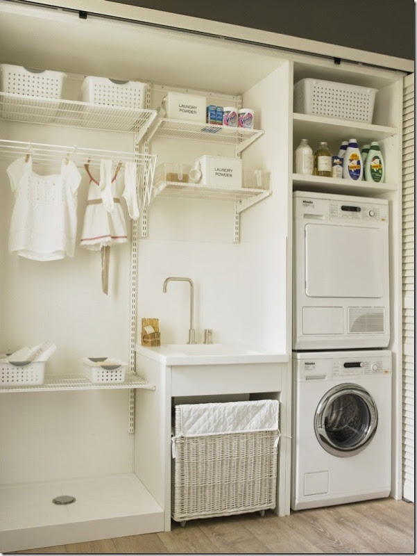 cucina - pranzo - lavanderia - vetrata - greige - country chic (10)
