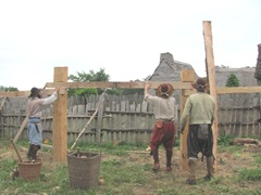 Plimoth Plantation 8.30.2-13 building a house