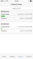 Screenshot of GCI MyUsage