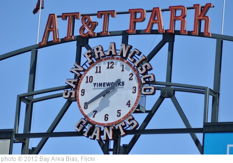 'AT&T Park Clock' photo (c) 2012, Bay Area Bias - license: http://creativecommons.org/licenses/by-nd/2.0/
