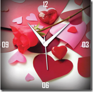 Buy Amore Trendy Analog Wall Clock : A Special gift for your Valentine