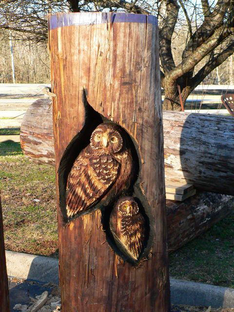 Wood Work by Mr. Randall D. Boni(Wildlife Sculpture Artist)