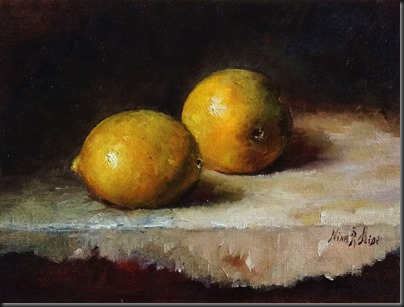 Lemons on White 6x8