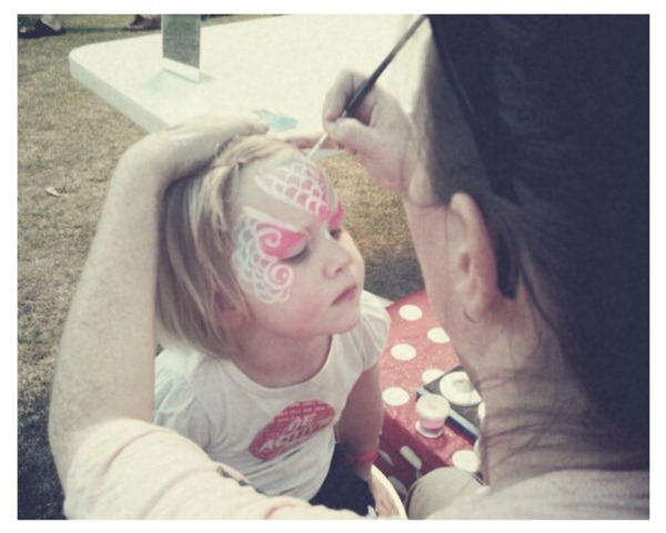 7. face painting