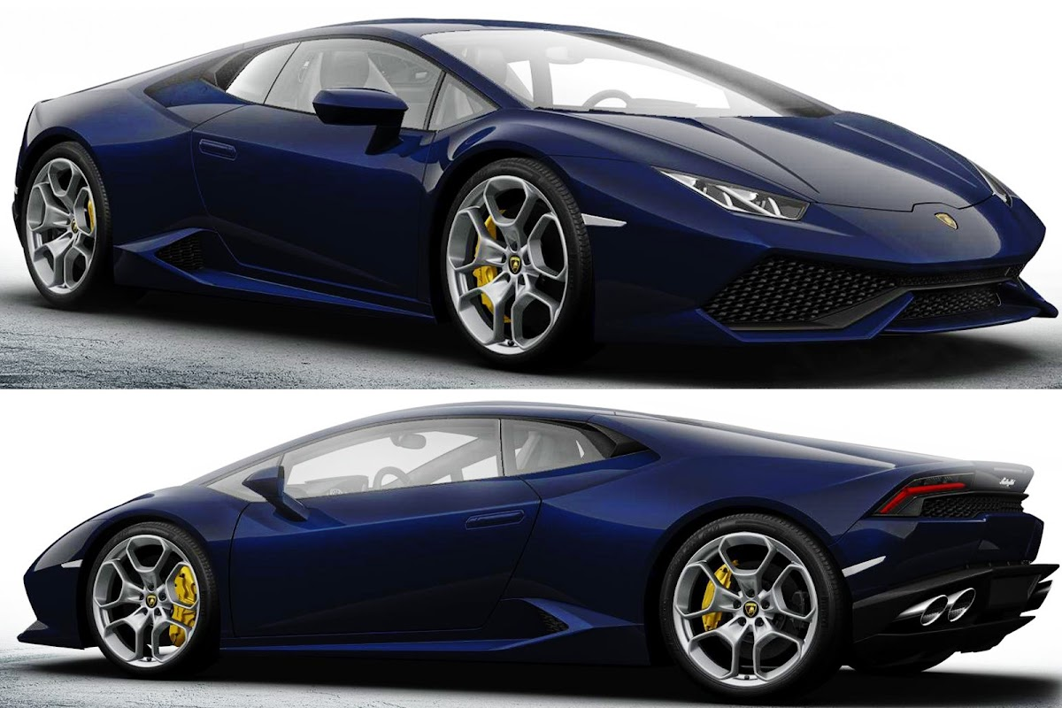 lambo huracan blue yellow calipers 1