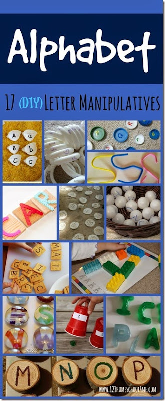 Alphabet - 17 DIY Alphabet Manipulatives for kids #alphabet #preschool