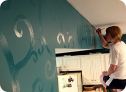 Glossy Swirls Accent Wall {Sawdust and Embryos}