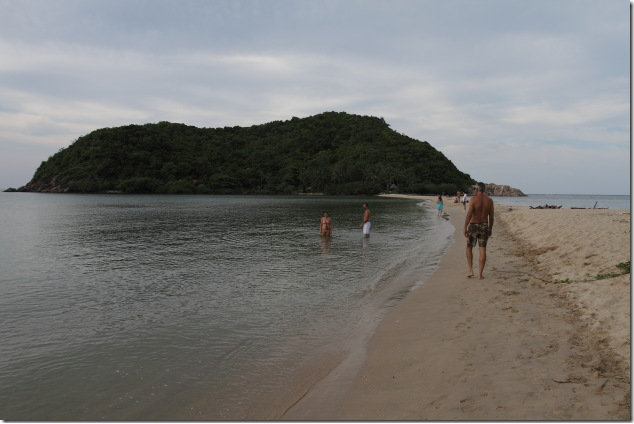Haad Mae Haad Beach connected with Koh Ma island during low tide