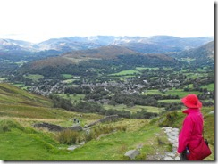 Wansfell Pike--looking down on the folks coming up from Ambleside