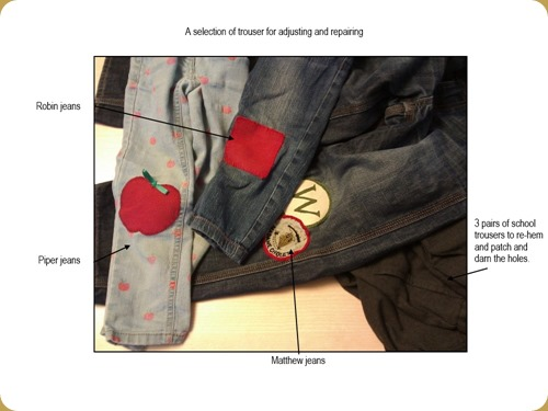 Trousers for mending