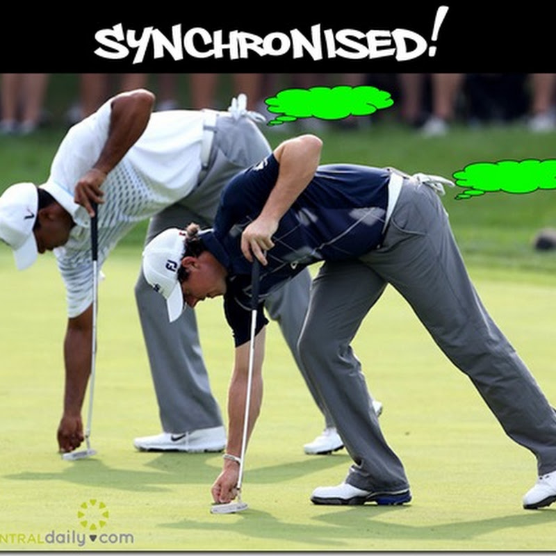 Rory and Tiger. The Very Definition Of Synchronised