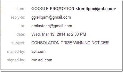 google promotion scam