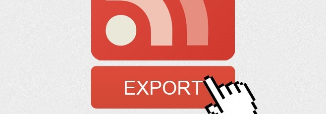 Export google reader