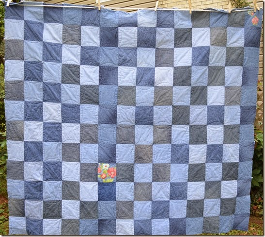 repurposed jeans quilt
