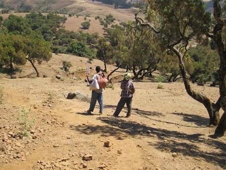 Muntii Simien - Etiopia: Mediu neprietenos si arid la inceput de traseu