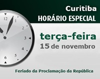Horário especial: Feriado da Proclamação da República