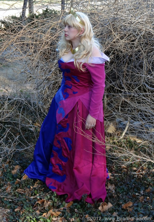 Princess Aurora's Pink and Blue Gown (Thorn Bushes)