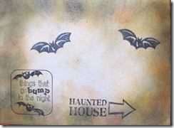 2011 Halloween popup card decorated envelope