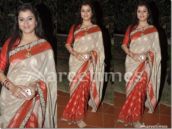Cream_Red_Half_and_Half_Saree