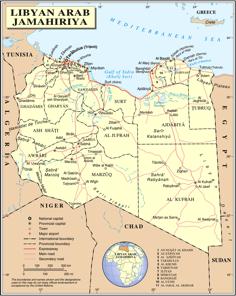 Libya map  road