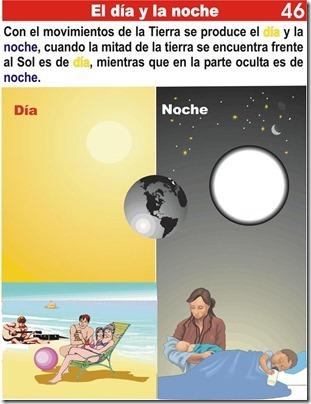 Tarea del día y la noche para niños de primaria