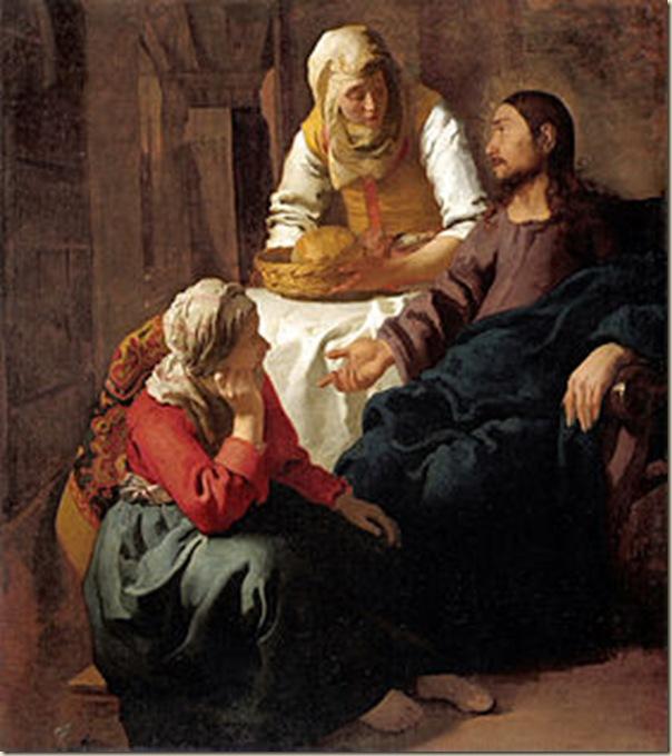 Vermeer, Le Christ dans la maison de Marthe et Marie