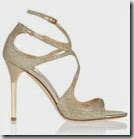 Jimmy Choo Textured Gold Lame Sandals