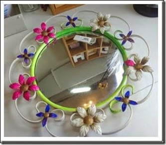 upcycled retro mirror