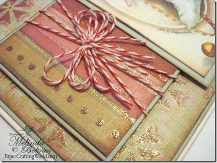 vintage christmas stocking card sv500