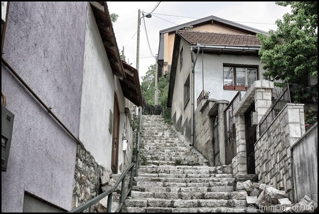 Sarajevo - Stairs disappearing into the distance