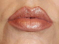 wearing L'Oreal Infallible ProLast Lipcolor in Lasting Ginger