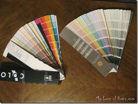 Color paint fan deck, Sherwin Williams, Porter Paints