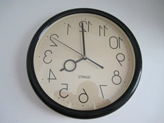 Backward clock front