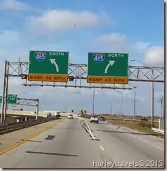 Starting our 2013-14 winter trip from Indianapolis, I-465.
