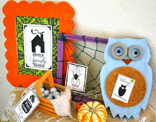 The Silly Pearl - Creepy Welcome Halloween Printables