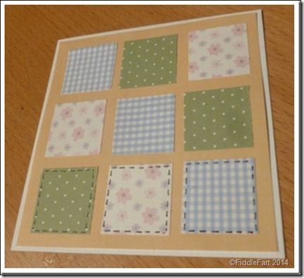 9 square Easter Bunny Card 1