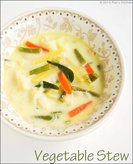 Vegetable stew recipe | Appam side dish | Rak's Kitchen