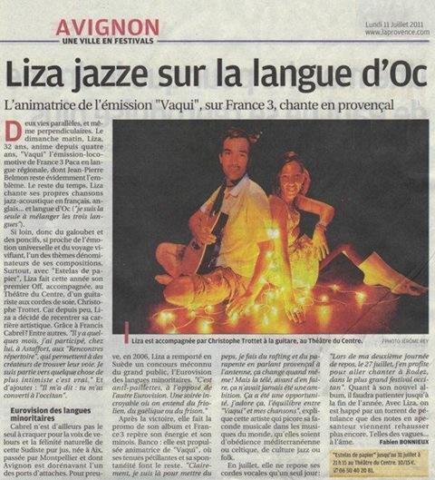 Liza al teatre en Avinhon