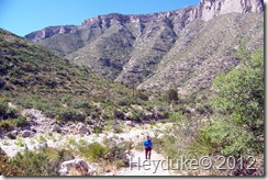 hiking in Guadalupe Mts NP