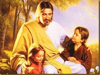 JESUS BENDICE A LOS NIÑOS