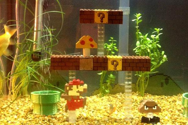 Aquário-Cenário-Super-Mario-Cano-Blocos-Inimigo