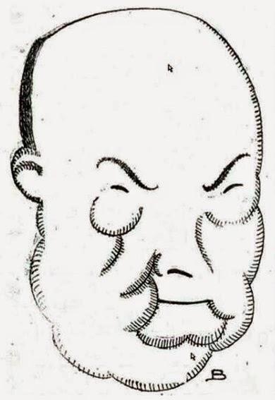 1922-06-28 (p. La Voz) Luis Bagaria entrevista a Chacon caricatura