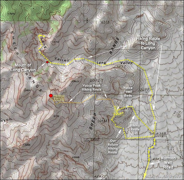MAP-Yucca Peak Hike